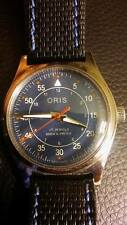 Vintage ORIS 17 Jewel Swiss Mechanical Watch w/ Blue and Red Dial! Excellent!