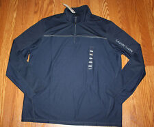 NWT Mens CALVIN KLEIN Navy Blue 1/4 Zip Lightweight Performance Pullover M