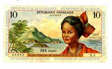 French Antilles ... P-8a ... 10 Francs ... ND(1964) ... *F+* ... SCARCE SINGNS