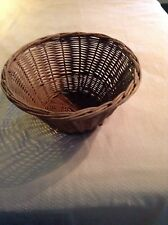 Antique Round Wicker Basket Laundry Storage Vintage Great Piece!!!