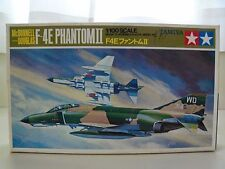 TAMIYA - McDONNELL DOUGLAS F-4E PHANTOM II JET FIGHTER  1/100 MODEL KIT (OPENED)