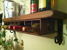 NEW WINE RACK SHELF ~Wall Mounted~ rustic style country kitchen storage