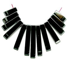 HEMATITE BEADS NECKLACE PENDANT FAN SET