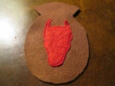 """WWI US Army 34th Division """"Red Bull"""" Patch AEF"""