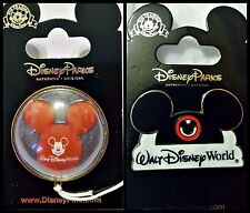 Disney Parks 2 Pin Lot Mickey Mouse WDW Balloon 3D + Ears Hat pins