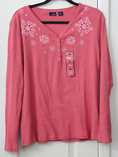 Women's XL pink Snow ski  top by Basic Editions NWT