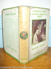 AMERICAN NOTES & MASTER HUMPHREY'S CLOCK HB C1900'S DUST JACKET CHARLES DICKENS