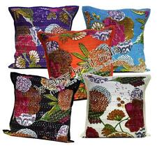 10 Indian Pillow Kantha Stitch Floral USA Cushion Covers Wholesale Lot