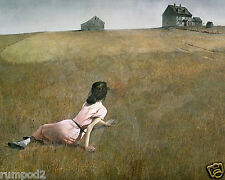 "Vintage Painting/Print/ Poster/Andrew Wyeth  ""Christina's World""1948/16x20 inch"