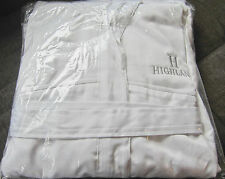 FRETTE XL White On White Microfiber Terry Bathrobe w/Hood, Highland Logo **NEW**