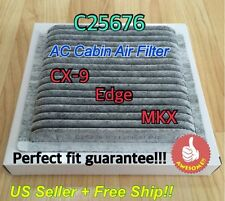 C25876 CARBONIZED CABIN AIR FILTER 2007-2014 MAZDA CX-9 FORD EDGE LINCOLN MKX