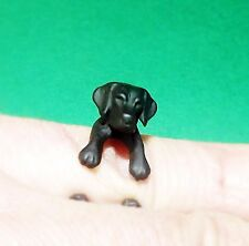 Cute Cool Black Adjustable Labrador Dog Animal Pet Ring Wrap Nickel Free Alloy