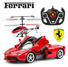Licensed La Ferrari RC Remote Car +4CH Electric Radio Control Helicopter Kid Toy