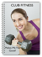 NEW A5 LADIES STANDARD FITNESS WEIGHT TRAINING LOG BOOK/GYM/WORKOUT/YOGA LOG