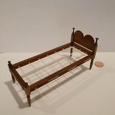MINIATURE CHILDS BED BY ROGER GUTHEIL SIGNED/DATED 2013
