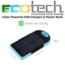 Solar Powered PowerBank USB Charger 5000mAh-Charge Phones Pads Devices on the go