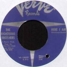 """RIGHTEOUS BROTHERS ~ HERE I AM / SO MANY LONELY NIGHTS AHEAD ~ 1968 US 7"""" SINGLE"""