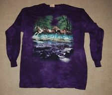#40-1530 ADULTS 2X-LARGE HORSES MEN/WOMEN MOUNTAIN BRAND LONG SLEEVE T-SHIRT