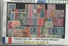 COLLEZIONE DEL MONDO - LOTTO FRANCIA 1 PRE 1932 - 79 PEZZI DIFFERENTI