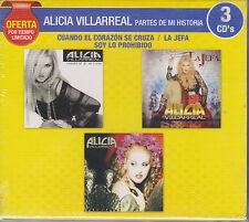 3 CD's Alicia Villarreal CD NEW Partes De Mi Historia BRAND NEW !