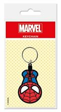 MARVEL KAWAII SPIDERMAN RUBBER KEYRING NEW OFFICIAL MERCHANDISE