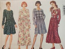 Easy VTG 95 BUTTERICK 4252 MS/MP Raised Waist Dress PATTERN L/XL~16-22