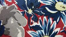 LIBERTY OF LONDON BLUE RED BROWN FLOWERS NECKTIE TIE MMY2116A #A39