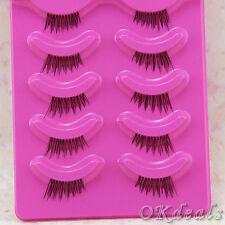 5 Pairs Natural Half False Eyelash Kit Partial Long Thick Handmade False Eyelash
