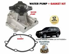 FOR SUZUKI GRAND VITARA 2.0i VVT J20A ENGINE 2005--  NEW WATER PUMP + GASKET KIT
