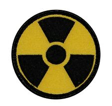 Nuclear Radiation Symbol Icon Logo Embroidered Iron On Badge Applique Patch FD