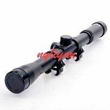New 4X20 Optic Lens Sniper Reticle Scope Sight For .22 Caliber Rifle Hunting