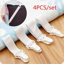 NEW 4 x Bed Sheet Mattress Cover Blankets Grippers Clip Holder Fasteners 1CAMG