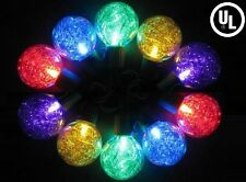 Outdoor Party Christmas LED String Lights w/ Multicolor Tinsel GW21905