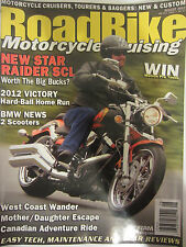 Road Bike Magazine August 2012 New Star Raider SCL BMW 2 Scooters Victory Hard B