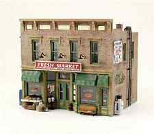 """N scale 2-Story Old Time Storefront MARKET STORE Retail Model Building """" KIT """""""