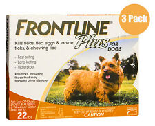 Frontline Plus Orange Dog 0-22lbs 3 Pack ** Fast Free Shipping**