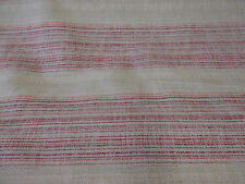 Beige & Red Striped Linen Blend Heavy Upholstery Fabric. By NEXT