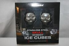 Whiskey Cubes Stainless Steel Skull Rocks Drink Chillers Ice Substitute NEW