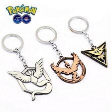Anime Pokemon Go Team Valor Mystic Instinct Elegant Alloy Key Chain Keyring New