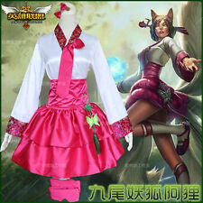 New Game League of Legends LOL Ahri Lolita Dress Cosplay Costume Chinese style