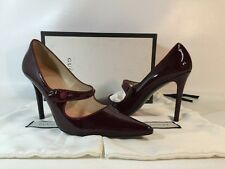 Gucci Women's Mary Jane Pointed Pumps Size 10 burgundy Patent Leather