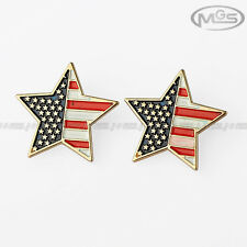 Buy 2 Get 1 Free Stars Stripes US American Flag Gold Pin Brooch Down Collar Tips