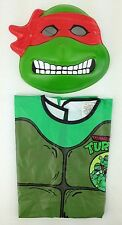 1988 Ninja Turtle PVC Mask With Vinyl Jumpsuit Costume Old Stock Vintage TMNT
