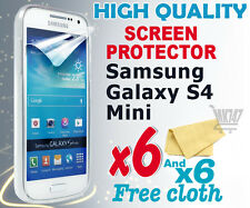 6 new High Quality Screen protection film foil for Samsung i9190 Galaxy S4 Mini