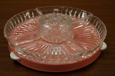 50er Schale Anbietschale Rockabilly Design Vintage Servierteller 50s Glas
