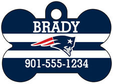 New England Patriots NFL Pet Id Dog Tag Personalized w/ Name & Number