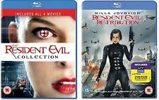 Resident Evil Complete Movie Film Collection 1 2 3 4 5 Blu Ray New UK Sealed