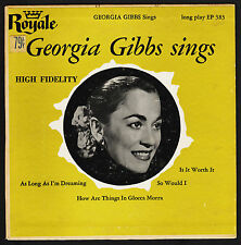 1957 Geogia Gibbs 45 EP Royal As Long as I'm Dreaming, Is It Worth It Jazz