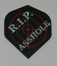 3 Sets RIP *SSHOLE Holographic Standard Dart Flights - FREE SHIPPING 6062