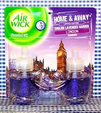 2 Refills Air Wick HOME & AWAY -English Lavender Garden London Scented Oil 1 Box